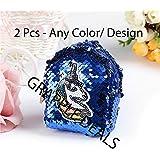 GRAPPLE DEALS Girl's ,Kids Reversible Bling Bling Sequins Coin Bag Pack/Keyring/ Best Birthday Return Gift (2 Pcs- Any Color/Design)