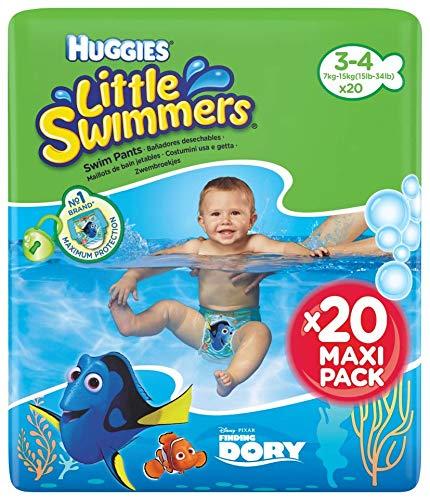 Huggies Little Swimmers Pañal Bañador Desechable Talla 3-4 7-15 Kg - 20 unidades