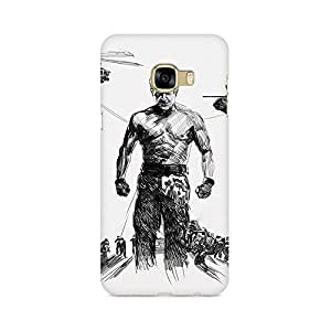 Mobicture Mass Hero Ajith Kumar In His Upcoming Movies Artwork Premium Printed High Quality Polycarbonate Hard Back Case Cover for Samsung C5 Pro With Edge to Edge Printing