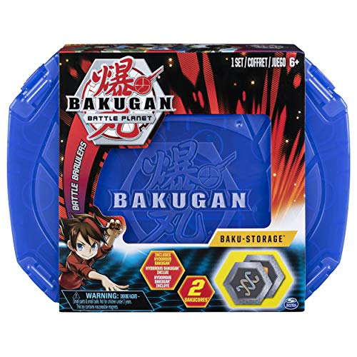 BAKUGAN 6045138, Baku-storage Case (Red) Collectible Action Figures, for Ages 6 and Up, Multicolored