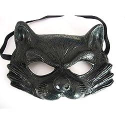 Générique Generic mahal665–Máscara de látex de la mitad hilo para–gato adulto talla única.
