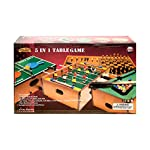 UKayed ® 5 in 1 Deluxe Games Table – Pool – Football – Tennis – Chess – Backgamman –