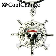 CoolChange collar de One Piece con Jolly Roger de la tripulación de piratas  del sombrero de d3bf114f2fe