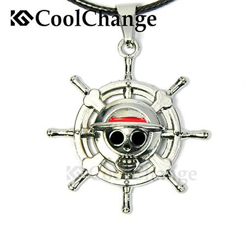 CoolChange collar de One Piece con Jolly Roger de la tripulación de piratas del sombrero de paja