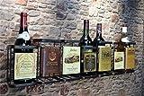 Livitat® Wandregal Wein Weinregal 78 x 20 Flaschenregal Metall Used Look Vintage LV5013