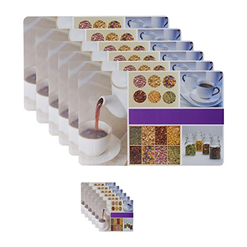 Dream Care set of 6 Cup plate printed table mats and coasters...
