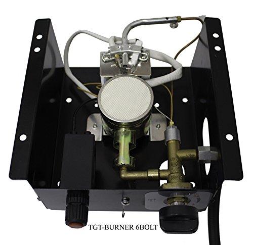 Hiland AZ Patio Heaters TGT-Burner - Bruciatore a 6 Fori, 6 bulloni, per Tubi di Vetro triangolari