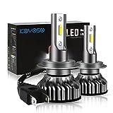 Bombilla H7 LED Coche, 10000LM Faros Delanteros Bombillas para Moto, Reemplazo de la Luz Halógena,...