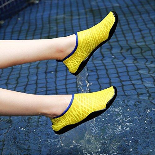 Kinder Gelb Trandschuhe Badeschuhe Schwimmschuhe f眉r Schnell Aquaschuhe Herren Wasserschuhe Barfu脽Schuhe Schl眉pfen Bevoker Trocknend Unisex Damen O6wq4WH