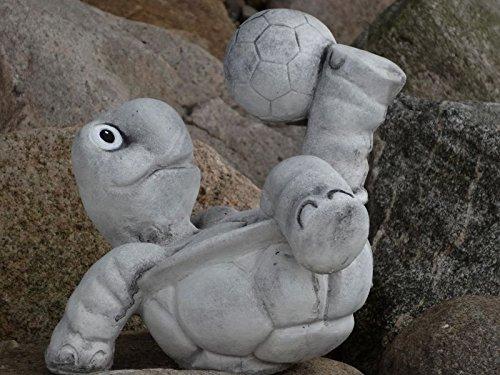 Steinfigur Nr.556 Fußball Schildkröte 11 Fussballspieler ca. 8 kg