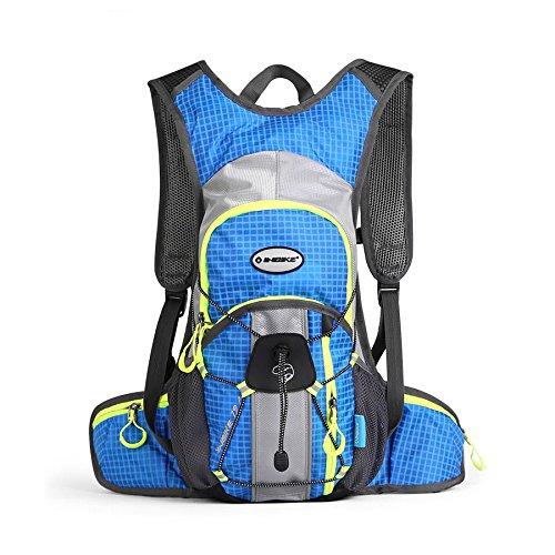 INBIKE Wasserdicht Radfahren Rucksack Reiten Hydration Professionelle Reisetasche Nylon Wandern Klettern Outdoor atmungsaktiv Sport Bag 12L blau