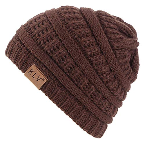 Berretto invernale a maglia, per bambini dai 2 agli 8 anni, antivento e caldo, autunno e inverno caffè