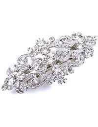 Cristales de Swarovski y plata envejecida Victorian pasador de pelo Suite b11c19a16473