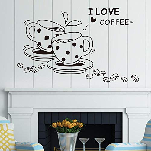 (GYK Boutique Handgemaltes Mode-Paar liebt Kaffee, 42X40CM)