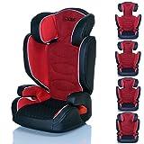 LCP Kids Kinderautositz Neptun FlameRed 15 bis 36 kg Gruppe 2 und 3 - wächst mit dem Kind da Kopfstütze und Seitenschutz verstellbar - rot