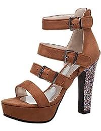 Lydee Mujer Moda Zapatos de Verano Correa de Tobillo Sandals