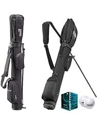 Stand-und Tragebag SUNDAY mit Standfüßen - optimales Rangebag für bis zu 8 Schläger + 6x RAPTOR Golfbälle in weiß