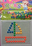 #6: Amity Impex Mushrooms Nails Pegboard Toys Colorful Building Bricks Puzzle for 3 Years Old Children (Pack of 2).