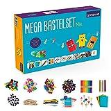 Smowo Mega Bastelset Mix - Bastelbox Starterset - mit kreativen Bastelideen - Bastelbedarf Box zum basteln für Mädchen und Jungs