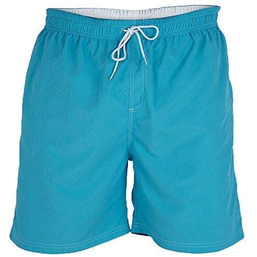 DUKE D555 Shorts De Natation Pour Hommes Millefeuille Grand King Size Trunks Plage Pantalon Bleu - Blue - YARROW
