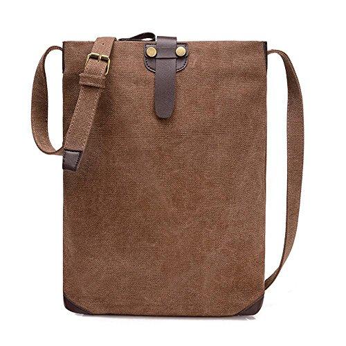 Retro Tasche Schulter Einfache Freizeit Messenger Bag Personalisierte Paket coffee