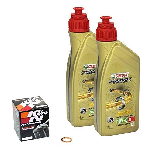 Castrol power1 (10W – 40 huile yamaha raptor de modèles r 700 13-14 &- moteur, k n filtre à huile et joint d'étanchéité