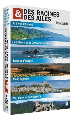 Des racines et des ailes - Passion Patrimoine : La Corse autrement / En Bretagne, de la Cornouaille au Léon / Terres de Gascogne / Route Napoléon / Du Languedoc au Roussillon - Coffret 5 DVD