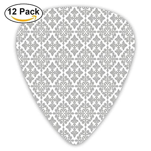 Antique Victorian Floral Retro Patterns In Modern Graphic Print Old Fashioned Boho Guitar Picks 12/Pack Set