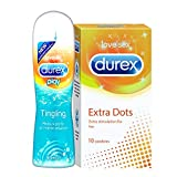 Durex Pleasure Packs (Tingle 50ml, Extra Dots 10s)