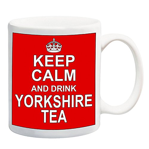 Keep Calm and Drink Yorkshire Tea rosso-Novità, divertente 311,8gram Ceramic mug- Perfect Secret Santa regalo di Natale,...