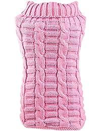 sourcingmap® Piccolo Cane cucciolo vestiti Gatto felpa con rivestimento in maglia Abbigliamento Costumi Rosa, XS