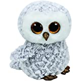 TY - Beanie Boos Owlette, búho, 23 cm, color gris (United Labels Ibérica 37086TY)