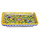 #6: Shriyam Craft Blue Pottery Decorative Tray