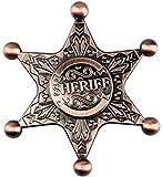 Ultra Fast Retro Sheriff Badge Fidget Hand Spinner Toy