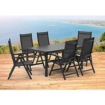 Amazon.de: Kettler BASEL Gartenmöbel 1 Tisch 160x95 cm und 6 ...