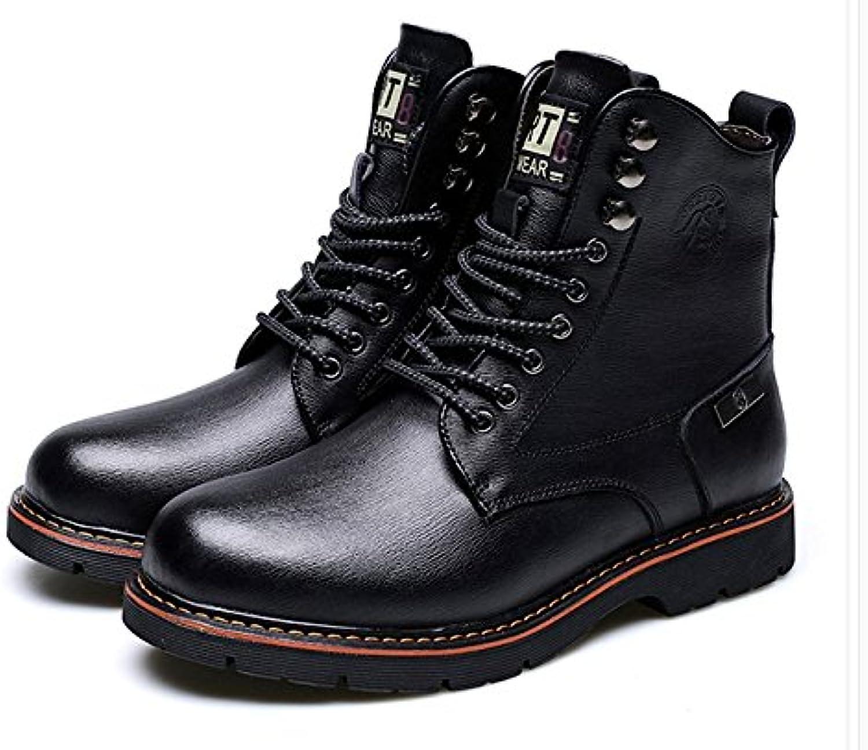 HL-PYL Botas, Martin botas, caliente botas cortas, botas, botas y botas de algodón,43,negro