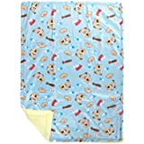 Mee Mee Soft Baby Blanket (Double Layered, Blue - Doggie Star Print)