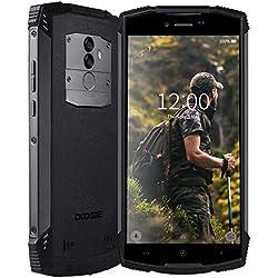 DOOGEE S55 Télephone Portable Incassable débloqué 4G, 2019 Smartphone Résistant Etanche Antichoc extérieur imperméable poussière Mobile IP68 5500mAh 5,5 Pouce 4+64Go Android 8 Dual SIM GPS Compas Noir