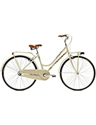 COFFEE mujer VERTEK bicicleta 26 1 Velocita'crema y portaequipajes ()/Bicycle City COFFEE for woman 26 1 speed Cream with luggage rack (City)