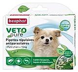 Beaphar - VETOpure, pipettes répulsives antiparasitaires - petit chien (