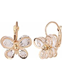 Archi Collection Gold Copper Clip-On Earrings For Women