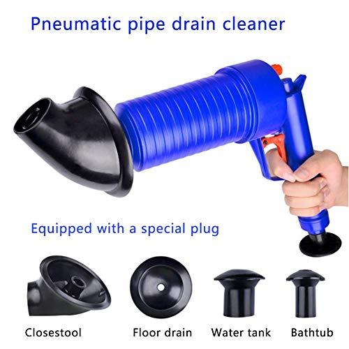 Lolly-U Hochdruck-Luftabfluss-Blaster-Pumpe, Kolben für Waschbecken, Rohr-Entferner, Toiletten, Badezimmer, Küche, Reinigungs-Kit mit Vier Steckern, Suchbegriffe: -