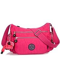 niceEshop(TM) Nylon Impermeable Multi-bolsillo de la Bolsa de Mensajero para las Mujeres