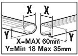 Menabo 36100000 Dachbox Mania 320, glänzend, universal, Dachkoffer aerodynamisch, schwarz - 2