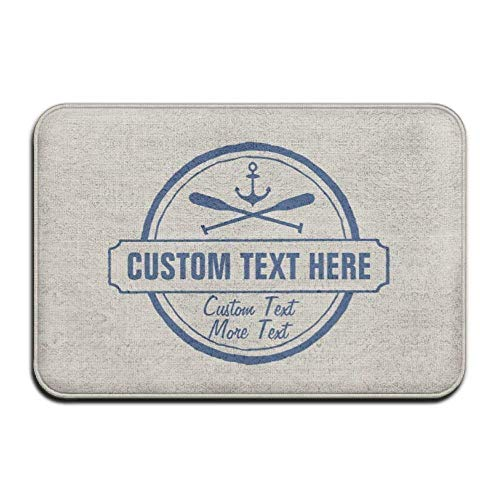 Beach Boat Schuhe (TEPEED Mats New Custom Lake, Beach House & Boat Nautical Anchor Super Absorbent Anti-Slip Mat Indoor/Outdoor Decor Rug Doormat 23.6 x 15.7 inches(40x60cm) Home Decor)