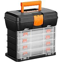 Caja de Herramientas VonHaus Estuche Organizador con 4 Cajones y Divisores Ajustables