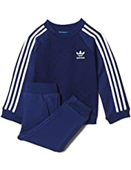 Conjunto adidas – I fleece Quilted azul/blanco talla: 99 a 104 cm altura – de 3 a 4 años