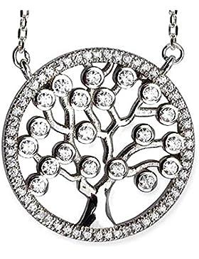 Anhänger Baum des Lebens mit Zirkonia Keltischer Lebensbaum Weltenbaum 925er Silber Schmuck rhodiniert Heilung...