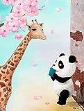 Galeria Chen: Kunstdrucke mit verschiedenen Panda Motiven als Wanddeko für moderne Wohnzimmer, Kinderzimmer, Babyzimmer