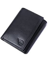 RUGE Black Men's Tri-Fold Wallet